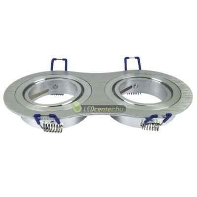 LC-5 kerek dupla billenthető lámpatest, alumínium, LED szpotokhoz