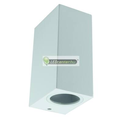 Bianco-2 alumínium szögletes fehér kültéri fali lámpa 2xGU10, IP44