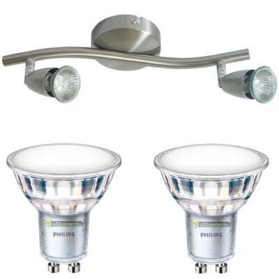 NORMAN-2 lámpatest és 2 Philips 5W=50W 120° melegfehér LED szpot