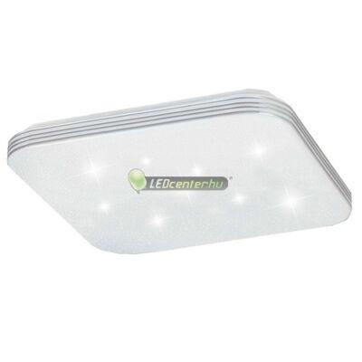 OSCAR LED 18W fehér/króm négyzet mennyezeti lámpa, csillagos effekt, természetes fehér 5évG