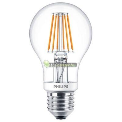PHILIPS CLASSIC 8W=60W LED E27 szabályozható körteégő, melegfehér