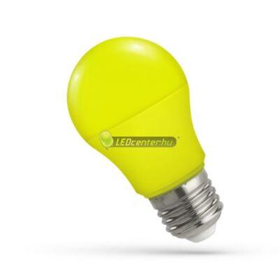 Spectrum 5W E27 sárga dekorációs LED kisgömb