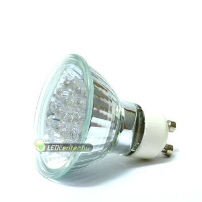 GLORIA 1W=10W GU10 20 LED szpot, hidegfehér