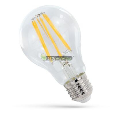 Spectrum Premium Clear COG 9W=77W E27 LED körte izzó, melegfehér