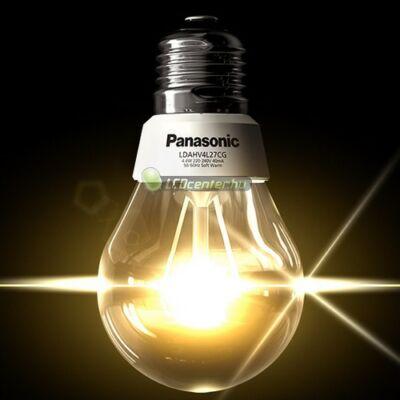 Panasonic 10W=60W E27 806 lumen melegf. körteégő