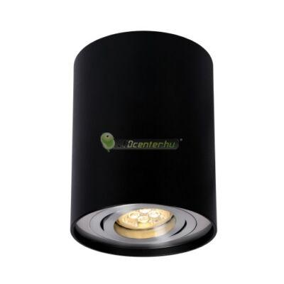 CHLOE GU10/230V elegáns, kerek fekete billenthető mennyezeti lámpatest