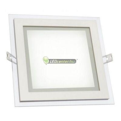 FIALE DESIGN 12W négyzet LED mennyezeti lámpa melegfehér 2évGar