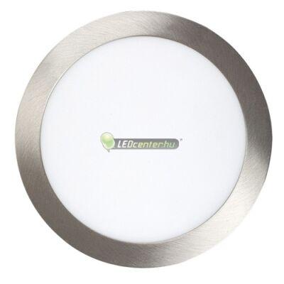 LOIS 18W kerek szatén króm LED mennyezeti lámpa melegfehér 2évG