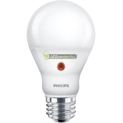 PHILIPS beépített alkonykapcsolós 7,5W=60W LED E27 izzó, melegfehér