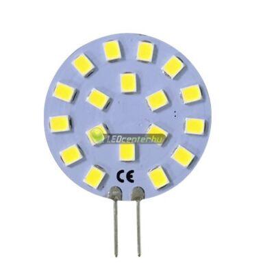 SOLIS+ G4/12V 18 SMD2835 LED, oldalsó lábakkal, természetes fehér