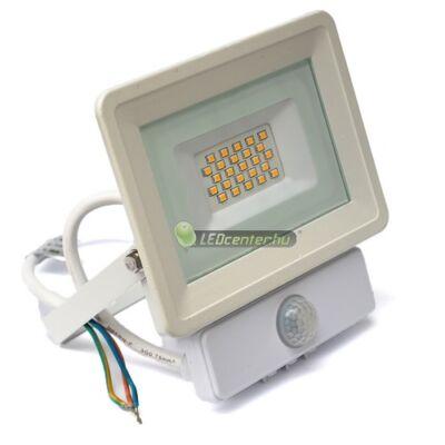 SLIM2 fehér LED reflektor, mozgásérzékelős, 20W/230V, természetes fehér