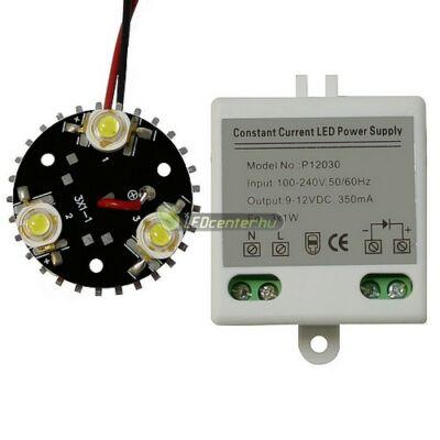 Barkács csomag 1db 3*1W-os melegfehér EDISON LED modullal