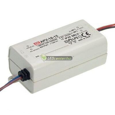 APV-16-24 MEAN WELL stabilizált LED tápegység, 16W, 230V/DC12V