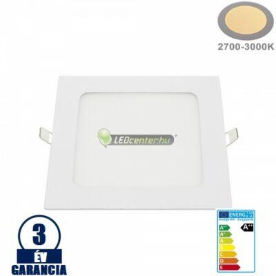 INTI 12W=96W négyzet fehér LED mennyezeti lámpa melegfehér 3évGar
