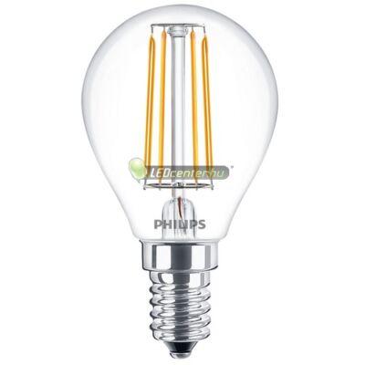 PHILIPS CLASSIC 4W=40W E14 LED P45 kisgömb izzó, melegfehér