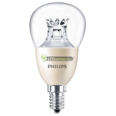 PHILIPS MASTER LED 8W=60W 806 lumen P50 szabályozható kisgömb, melegfehér 3évG