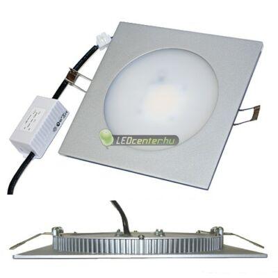 INTI 7,5W=75W szög. m. ezüst LED mennyezeti lámpa hidegfehér 3évGar