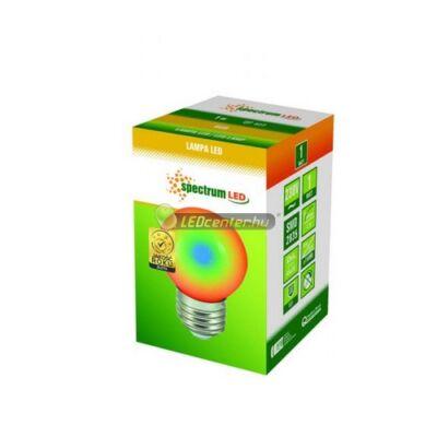 Spectrum 1W E27/230V RGB LED kisgömb, partifény 2évGar
