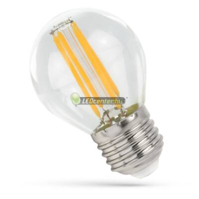 Spectrum Premium Clear COG 4W=41W E27 LED kisgömb izzó, melegfehér