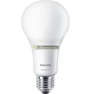 PHILIPS SceneSwitch 14W=100/50/15W LED E27 égő, melegfehér