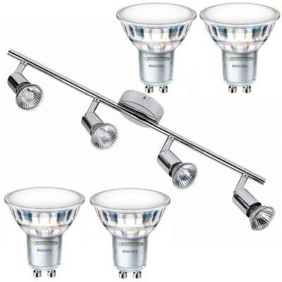 NORTON-4 lámpatest és 4 Philips 5W=50W 120° melegfehér LED szpot