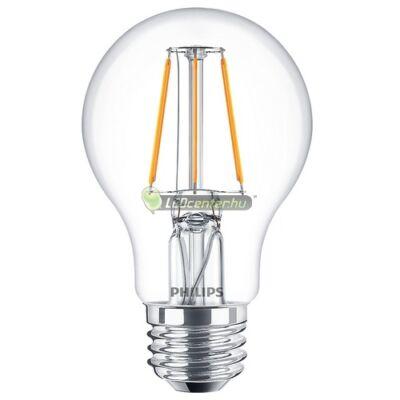 PHILIPS CLASSIC 4W=40W LED E27 körteégő, melegfehér
