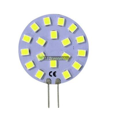 SOLIS+ G4/12V 18 SMD2835 LED, oldalsó lábakkal, hidegfehér