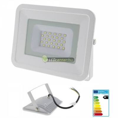 SLIM2 fehér LED reflektor, fényvető, 20W/230V, 1700 lumen, hidegfehér, 2évG