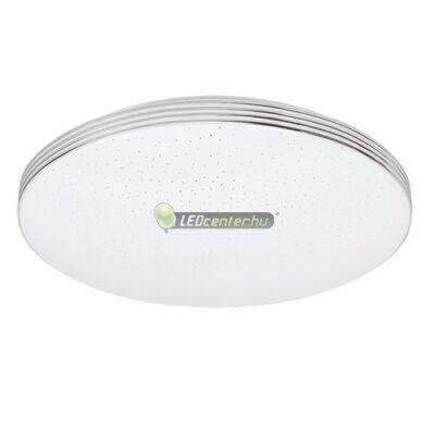 OSCAR LED 18W fehér/króm kerek mennyezeti lámpa, csillagos effekt, term. fehér 5évG