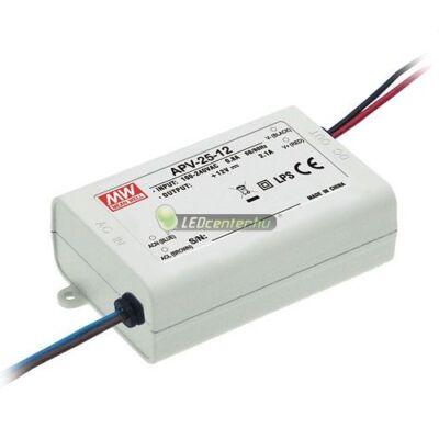APV-25-12 MEAN WELL stabilizált LED tápegység, 25W, 230V/DC12V