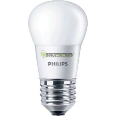PHILIPS 5,5W=40W E27 P45 FR 470 lumen melegfehér LED minigömb