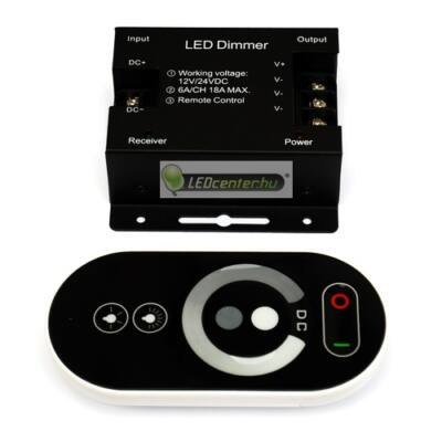 LUNA-5 DC12V LED RF dimmer távirányítóval, 216 W