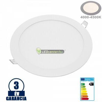 INTI 18W=144W kerek fehér LED mennyezeti lámpa természetes fehér 3évGar