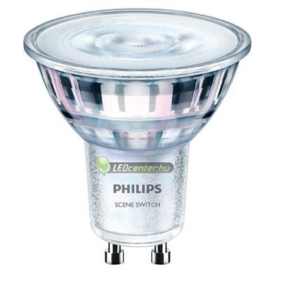 PHILIPS SceneSwitch 5W=50W/25W/10W GU10 LED szpot melegfehér