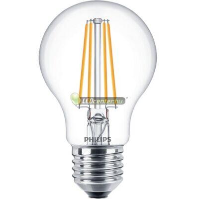 PHILIPS CLASSIC 7W=60W LED E27 körteégő, melegfehér