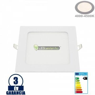 INTI 12W=96W négyzet fehér LED mennyezeti lámpa természetes fehér 3évGar