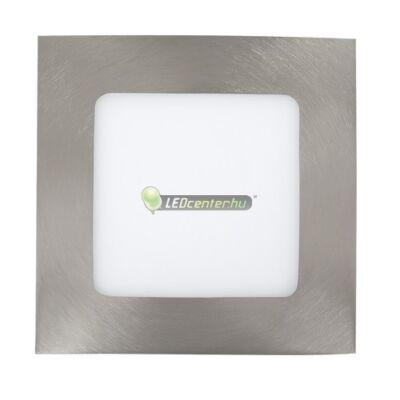 LOIS 6W négyzet szatén króm LED mennyezeti lámpa melegfehér 2évG