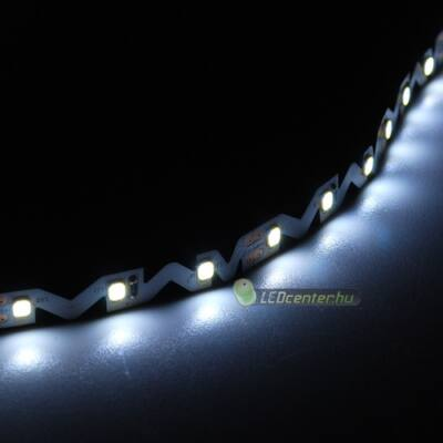 CLARO-H hajlítható 60 SMD2835 12 W/m beltéri LED szalag, hidegfehér 2évG