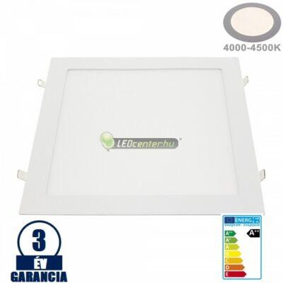 INTI 24W=192W négyz. fehér LED mennyezeti lámpa természetes fehér 3évGar