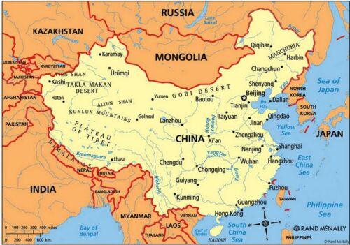 Kína térképe