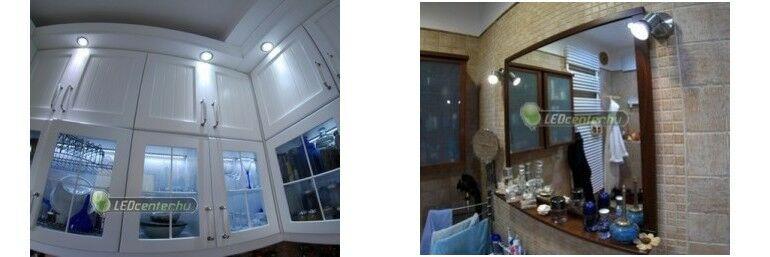 Konyha és fürdőszoba megvilágítása szpotokkal