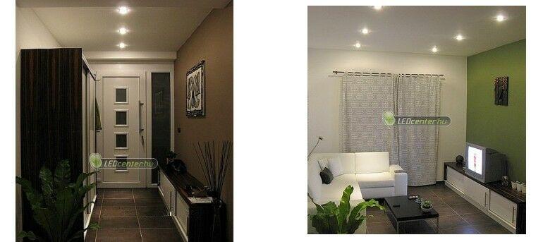 Előszoba és nappali megvilágítása 38 LED-es szpotokkal
