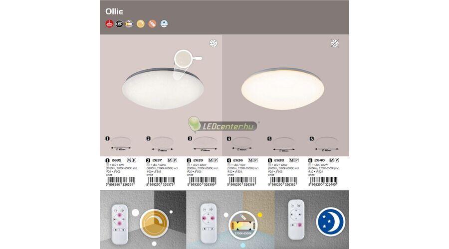 ollie 40w cct távirányítós csillogós led mennyezeti lámpa